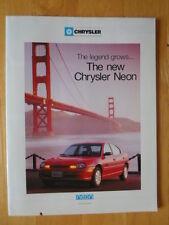 CHRYSLER Neon 1996 UK Mkt brochure - inc Viper GTS-R & Prowler