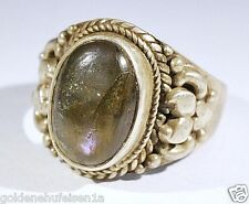 Labradorit Ring 925 Silber Top