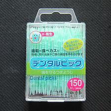 150pcs Japanese Plastic 2-way Oral Dental Picks Tooth Pick + Interdental Brush
