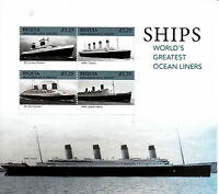 Bequia Grenadines St Vincent 2013 MNH Ships Ocean Liners Titanic 4v M/S Stamps