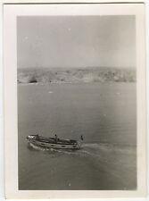 PHOTO ANCIENNE - BATEAU VEDETTE SPITZBERG NORVÈGE MER -BOAT SEA-Vintage Snapshot