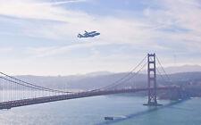 Historical Final Shuttle ENDEAVOUR Flying over Golden Gate Bridge 8x10 PHOTO