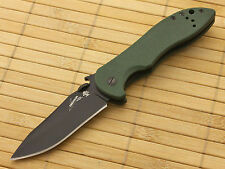 EMERSON KERSHAW CQC-5K FOLDING KNIFE with WAVE FEATURE GREEN G-10 6074OLBLK NEW