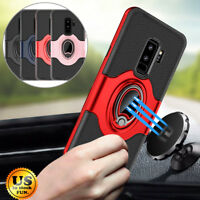 For Samsung Galaxy S9/S8/Plus/Note 9 Ring Holder Shockproof Armor Case Cover