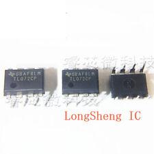 50 PCS TL072CP DIP TL072 072 LOW NOISE JFET INPUT OPERATIONAL AMPLIFIERS