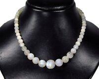 Außergewöhnlich Luxus Halskette aus Mondstein in verschiedenen großen Kugelform