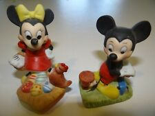 Walt Disney Productions Ceramic Mickey and Minnie Mouse