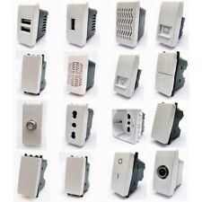 VIMAR PLANA COMPATIBILE, INTERRUTTORE, PRESA, SCHUKO, PULSANTE, USB, RJ45