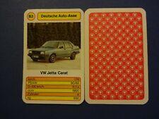 VW Jetta Carat Auto Quartett Einzelkarte B3 von ASS