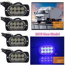 4X Blue 8 LED Car Truck Emergency Beacon Warning Hazard Flash Strobe Light Bar