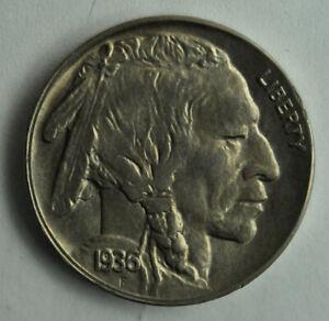 1936 D - Buffalo Nickel - GEM BU