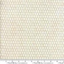1/2 Yard White Chicken Wire Print Fabric Quilt Sew Moda 100% Cotton 19827 11
