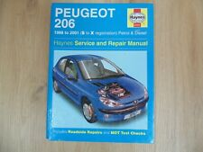 HAYNES MANUAL FOR THE PEUGEOT 206 1998 > 2001 S to X reg  PETROL & DIESEL