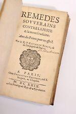 1629 Estienne Binet Remèdes contre la peste Dieu Diable Religion Santé Maladies