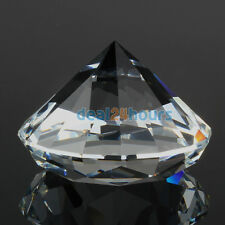 40mm Crystal White Paperweight Cut Glass Giant Diamond Jewel Decoration Crafts