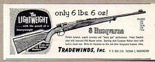1957 Print Ad Husqvarna Bolt Action Rifles Tradewinds Tacoma,WA