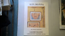 "AFFICHE D EXPOSITION  "" ALIX DEONNA ""  GALERIE  VISCONTI  ANNEES 70 80"