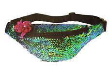 retro 80s vibe disco festival hot trend sequin bumbag / bum bag / hip bag