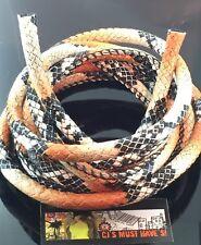 ✿ 1 metros Naranja Negro Cuero PU Piel De Serpiente Cable hallazgos-Fabricación de Joyas -