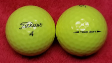 15 Titleist 2018 Tour Soft Balls in Optic Yellow Grade Aaaaa Used New in 2018