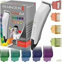 Remington Colourcut da Uomo Tagliacapelli Trimmer Rasoio Elettrico Kit Set con 9