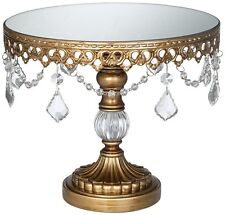 Antique Small Cake Stand Wedding 1 Tier Tower Display Round Cupcake Holder GOLD