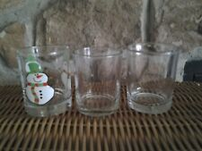 3 Glass votive Candle cups / each are 2 1/2 x 2 inches / good condition