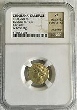 Zeugitana Carthage El Stater (320-270 B.C.) NGC XF, a rare gem of a coin