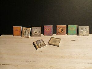 9 DOLLS HOUSE MINIATURE WITCHES SPELLS BOOKS SET