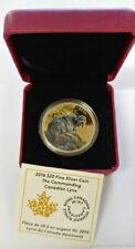 2016 Canada Lynx $20 1 ozt Fine Pure Silver 9999 Fine Coin