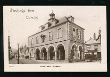 Gloucestershire Glos Greetings from DURSLEY Town Hall 1909 RP PPC fault