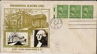 1-cent Crosby Washington Electric Eye Prexy FDC, neat, small with photo cachet