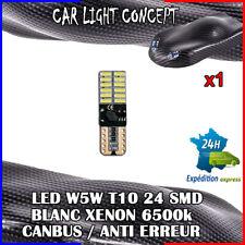 1 x ampoule veilleuse Feu LED W5W T10 BLANC XENON 6500k voiture auto moto 24 smd