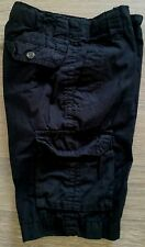 Arizona Black Cargo Adjustable Shorts Boys Size 10 BTS