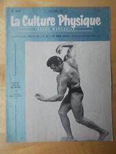 LA CULTURE PHYSIQUE bodybuilding muscle magazine/MAURICE DE MEYER 12-61