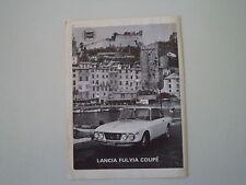 advertising Pubblicità 1966 LANCIA FULVIA COUPE'