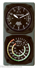 TRINTEC Altimeter Altitude Clock Airspeed Indicator Thermometer Console Set New