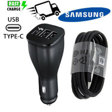 Samsung Dual Port Car Charger OEM Fast Charge with Micro USB Type C Original