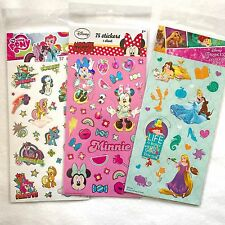 3 sheets licensed Kids Girls Disney Princess Minnie mouse My Little Pony sticker