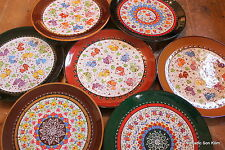 Colourful! Turkish ceramic plates - 30cm,handmade, hand painted Ottoman designs