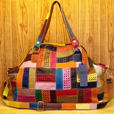 Designer Women'S Genuine Leather Multi-color Handbag Satchel Tote Shoulder Bags