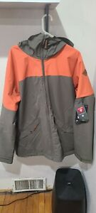 Dakine DENISON Mens Snowboard Ski Jacket Lightweight Primaloft Orange Brown XXL