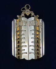 Masonic Collar Jewel Chaplain Holy Bible Silver Freemason Mason