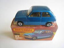 Matchbox Lesney MB 21 Renault 5TL Azul Superfast 21.3ms