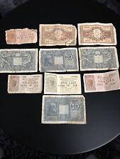 10 Old Italian Banknotes - Italy Lire, Italia Lire Notes 1944