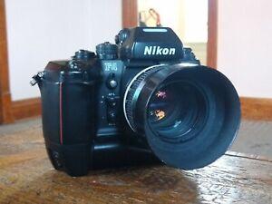 Nikon F4s 35mm Film SLR Camera & Nikkor 55mm f/1.2 Ai Lens *w/Hood, MB-21 Grip!*
