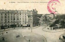 CLICHY Place République Parc Denain Et du Printemps Cachet militaire Croix Rouge