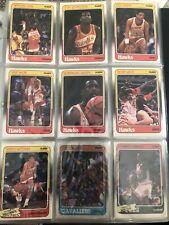 1988 fleer basketball STARTER SET 104/of 132 + 9 Stickers In Binder