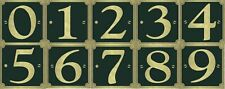 """Número de garaje de puerta de casa de Bin Adhesivo 3"""" tamaño resistente a la intemperie Calcomanía Oro y Negro"""