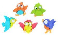 Bird Brain Buttons Plastic